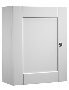 Medicab Lockable Single Door Wall Cabinet White 334mm - MED340