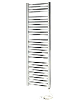 Napoli Straight Sealed Electric Multirail Chrome 300 x 1100mm