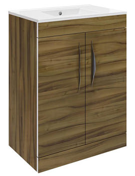 Memoir Walnut 600mm 2 Door Vanity Unit - CAB194