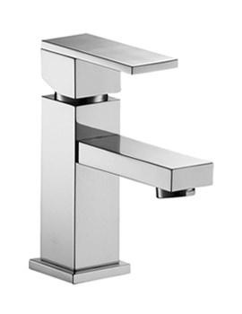 Related Pura Bloque Small Mono Basin Mixer Tap With Clicker Waste - BQSBAS