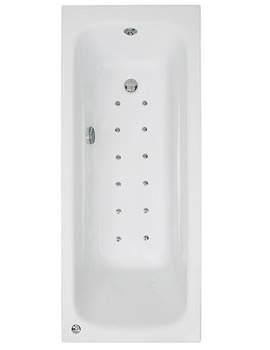 Related Phoenix Crystal Single Ended Airpool Bath 1700 x 700mm System 2