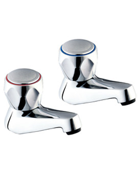 Profile Chrome Taps with Round Levers - DCM102