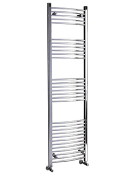 Gina 500mm Wide Curved Designer Pre-Filled Electric Towel Rail