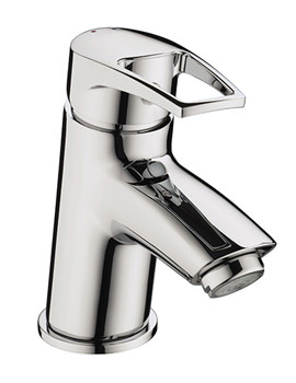 Smile Chrome Basin Mixer Tap With Clicker Waste - SM BAS C