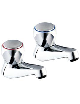 Profile Bath Taps With Metal Back Nuts - DCM SPEC102