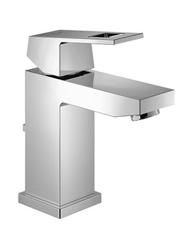 Eurocube Chrome Basin Mixer Tap With Pop Up Waste
