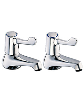 Lever Action Taps for Bathtub in Chrome Finish - DLT102