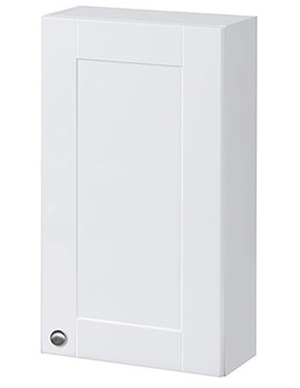 Balterley White Gloss Shaker 400mm Wall Cabinet - BYFWS4W
