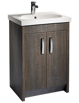 Tavistock Impact 600mm Java Finish Floorstanding Vanity Unit Including Basin