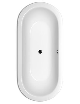 STARLET Oval Super Steel Bath 1650 x 750mm