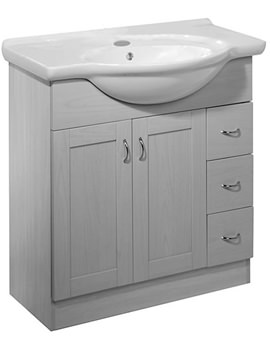 New England 800mm White Freestanding Unit Excludes Basin