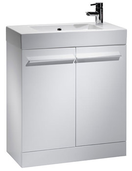Kobe 700mm White Floorstanding Unit And Basin - K70FW