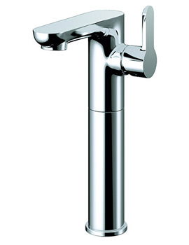 Echo Side Lever Tall Basin Mixer Tap With Clicker Waste