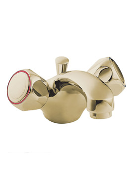 Profile Mono Basin Mixer Tap With Pop-Up Waste Gold