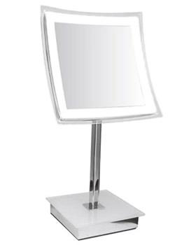 Related Croydex Freestanding Curved Square Illuminated Vanity Mirror