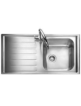 Manhattan 1.0 Bowl Stainless Steel Kitchen Sink - LH Drainer