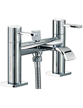 Wave Bath Shower Mixer Tap With Shower Kit Chrome - RDL007