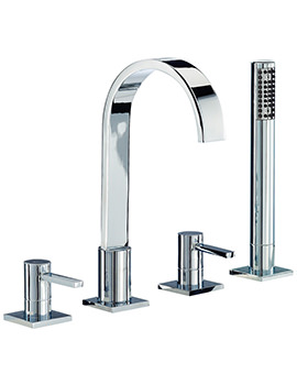 Wave 4 Tap Hole Bath Shower Mixer Tap With Shower Kit - RDL049