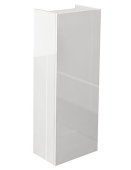 Echo White Gloss Finish 300 x 800mm Single Door Short Storage Unit