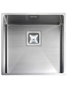 Atlantic Kube 1.0 Bowl Undermount Kitchen Sink 430 x 430mm