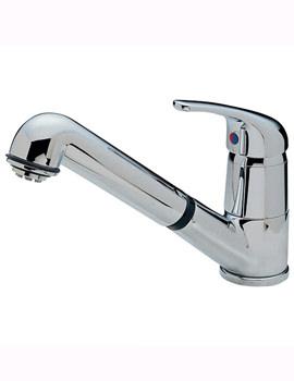 Modena Standard Dual Flow Mono Sink Mixer Tap Chrome - 173