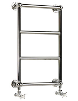 Heritage Portland Wall Mounted 475 x 750mm Heated Towel Rail