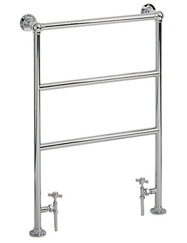 Victorian Chrome Heated Towel Rail With Valve