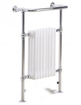 Essential Tauras Towel Warmer 640 x 945mm Chrome - 148266
