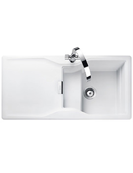 Related Rangemaster Magma 1.0 Bowl Igneous Granite Sink - Crystal White Finish