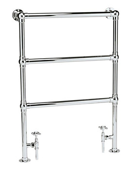 Countess 676 x 966mm Traditional Heated Towel Rail