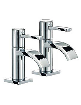 Wave Bath Taps Pair - RDL003