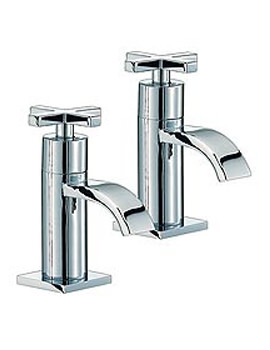 Surf Chrome Bath Taps Pair - RDX003