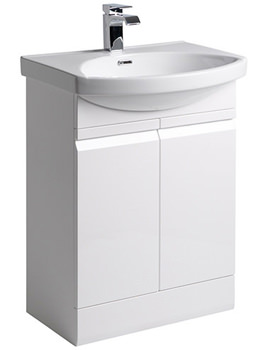 Profile White 600mm Freestanding Unit Including Basin