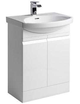 Profile White 600mm Freestanding Unit Including Basin