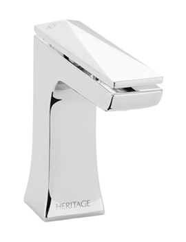 Heritage Hemsby 1 Taphole Basin Mixer Tap With Clicker Waste