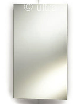 Ultra Avant Stainless Steel Corner Mirrored Cabinet 380 x 650mm
