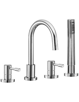 Series F 4 Hole Bath Shower Mixer Tap With Shower Kit - SFL047