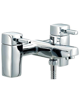 QL Bath Shower Mixer Tap With Shower Kit Chrome - QZ007