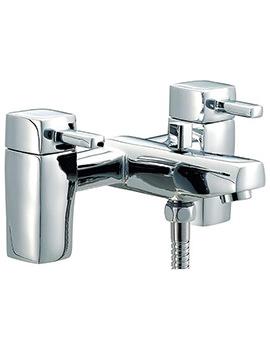 QL Bath Shower Mixer Tap With Shower Kit Chrome - QZ007