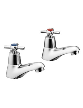 Elements Crosshead Bath Pillar Taps - B9859AA