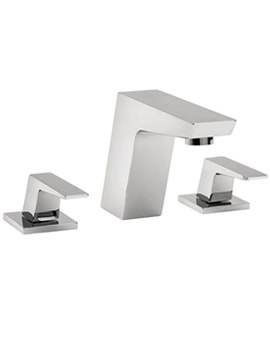 Wilde 3 Hole Basin Mixer Tap Chrome - 47090