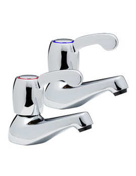 Capri Lever Pair Of Bath Tap With 3 Inch Lever Chrome