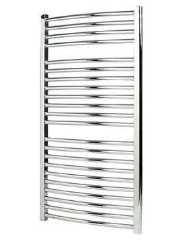 Apollo Napoli Curved Sealed Electric Towel Rail Chrome 600 x 1700mm