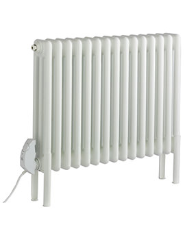 Peta Electric 2 Column Radiator 986 x 592mm White - 20 Sections