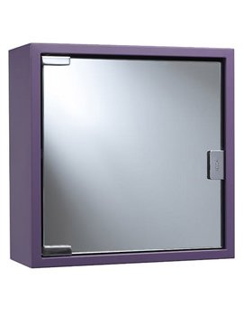 Croydex Purple Coloured Steel Mirror Cabinet - WC870261