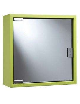 Croydex Lime Coloured Steel Mirror Cabinet - WC870208