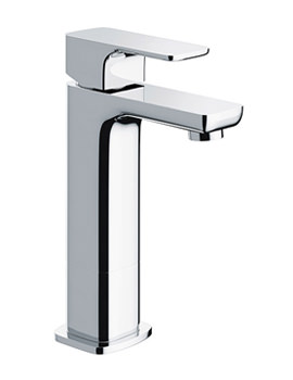 Flite Single Lever Medium Basin Mixer Tap With Clicker Waste