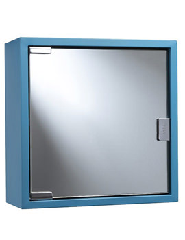Croydex Blue Coloured Steel Mirror Cabinet - WC870224