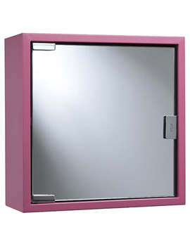 Croydex Pink Coloured Steel Mirror Cabinet - WC870223