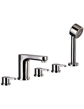Mayfair Eion 5 Hole Bath Shower Mixer Tap Set Chrome - EIO057